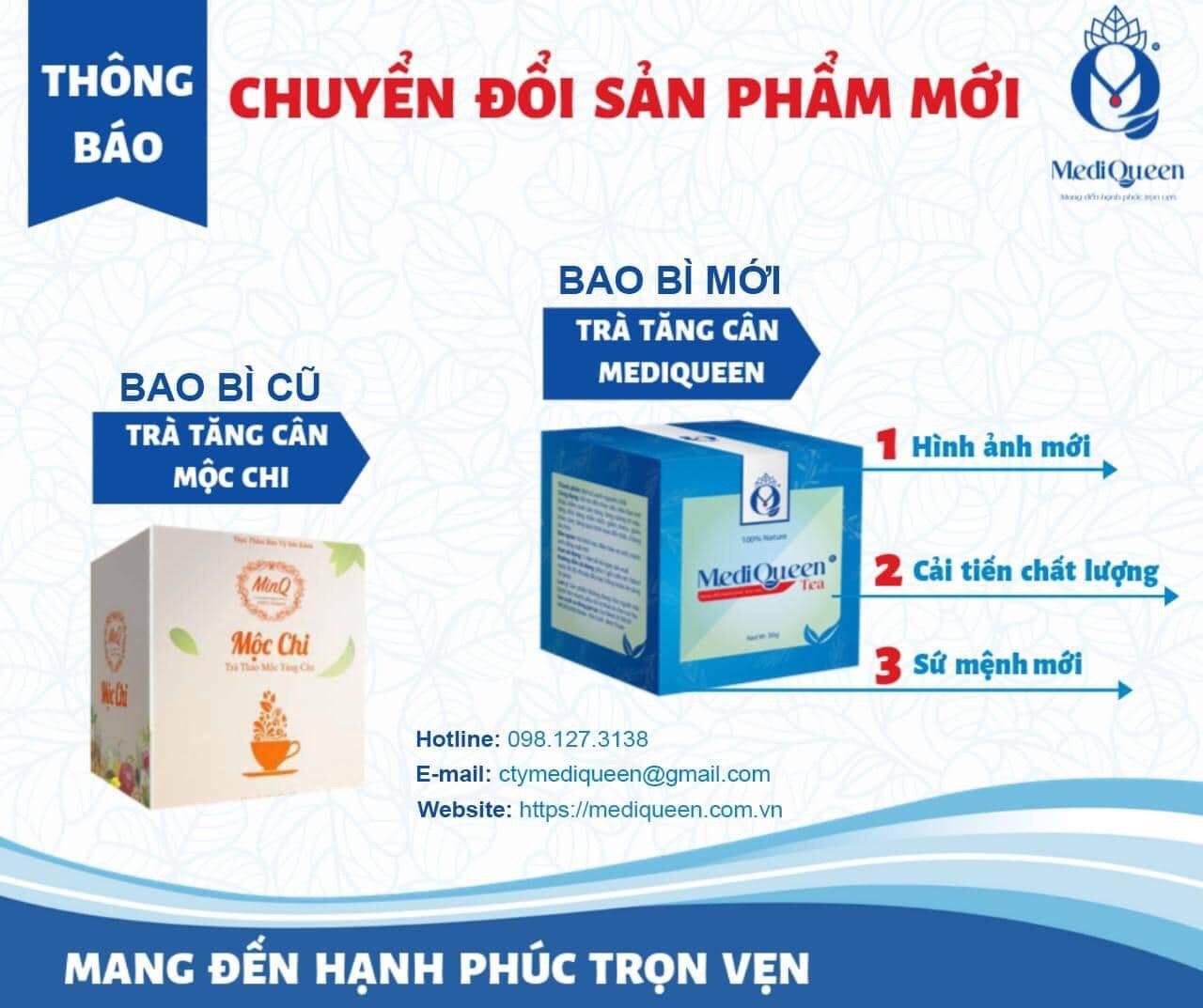 Thông báo thay đổi bao bì sản phẩm Trà Mộc Chi